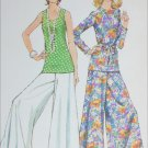 Simplicity 5690 sewing pattern 1973 issue size 12 B34 top wide leg pants UNCUT
