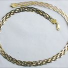 Sterling six chain plaited 17 inch necklace made in Italy marked 925