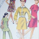 Simplicity 8585 vintage 1969 sewing pattern dress pants size 14 B36 knits only