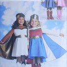 Butterick 3583 sewing pattern girl costume with cape boot size 2 3 4 5 UNCUT