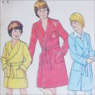 Simplicity 7066 sewing pattern boys robe with monogram transfers sz 7 and 8