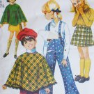 Simplicity 8425 sewing pattern girl poncho skirt overalls size 12 bust 30