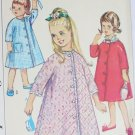 Simplicity 5760 vintage 1964 sewing pattern girl robe size 3