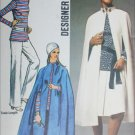 Simplicity 9211 vintage 1970 sewing pattern misses cape tunic pants size 10 B 32.5