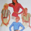 McCall 7883 pullover blouse sewing pattern size 14 B 36 UNCUT
