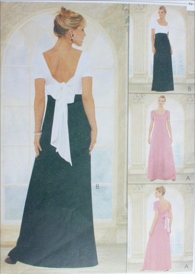 McCall 9098 sewing pattern prom gown fancy dress sizes 8 10 12 UNCUT