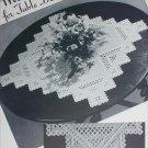 Hardanger cloth table centerpiece vintage pattern circa 1940s