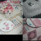 Royal Society craft pattern booklet Linen and Lace Crochet designs vintage 1952