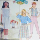 Butterick 3141 girls vest top skirt pants plus Cabbage patch doll outfit UNCUT size 7 8 10