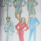 McCall 9348 sewing pattern men women robe PJ nightshirt size large UNCUT
