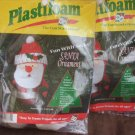 2 Plastifoam Fun with Socks Santa Ornament kits felt and pom poms