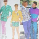 Simplicity 7525 sewing pattern mens casual pants top jacket sizes XS to L