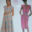 McCall 2025 sewing pattern misses sleeveless dress sizes 14 16 18 UNCUT