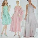 Simplicity 7639 sewing pattern misses formal prom dress and wrap sz 6 8 10 UNCUT