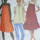 McCall sewing pattern 7468 maternity jumper sundress blouse pants size 16