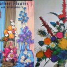 Craft booklet Feather Flowers and Arrangements vintage 1967 designs