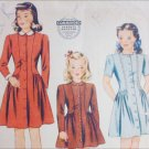 Simplicity 4480 vintage 1940s sewing pattern girls dress size 6 breast 24
