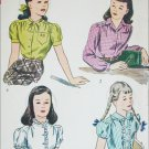 Simplicity 2001 vintage 1950s sewing pattern girl's blouse size 8