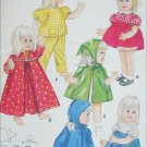 Butterick 4169 toddler doll outfits sewing pattern doll 18 to 19 inches