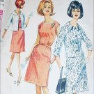 Simplicity 5849 vintage 1964 sewing pattern dress jacket size 16 1/2 B 37 UNCUT