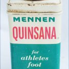 Vintage Mennen Quinsana for Athletes foot tin can 4 oz
