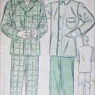 Advance 9900 vintage sewing pattern circa 1940 man's pajamas size chest 40