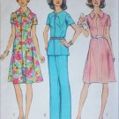 Simplicity 6342 vintage 1974 sewing pattern dress pants top size 16 1/2 B 39