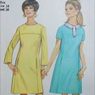 Simplicity 7337 sewing pattern vintage 1967 A line dress size 14 B34 UNCUT