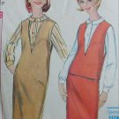 Simplicity 5572 vintage 1964 sewing pattern jumper blouse skirt size 11jp B33