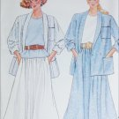 Butterick 4841 sewing pattern misses half size jacekt top skirt size L to XL UNCUT