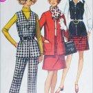 Simplicity 8405 sewing pattern vintage 1969 jacket skirt pants size 12MP