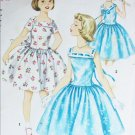 Simplicity 1633 vintage 1956 sewing pattern girls dress size 10