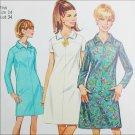 Simplicity 7289 sewing pattern A line dress size 14 bust 34 UNCUT