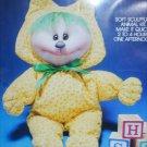 Valiant soft sculpture doll craft kit Kitty Cat sealed MIP