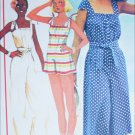 McCall 5499 sewing pattern misses jumpsuit hat size small 10 to 12 UNCUT