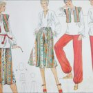 Vogue 9827 sewing pattern misses top skirt vest top pants UNCUT size 10