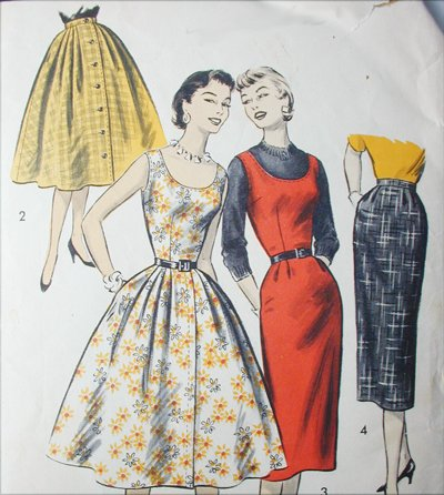 Advance 8029 vintage 1950s sewing pattern misses jumper and skirts size12 B30