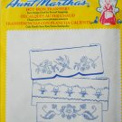 Aunt Martha basket birds blossoms iron on pillow embroidery transfers MIP