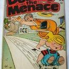 Denis the Menace sliding on Ice comic book Hallden Fawcett 1963 No 68 fair condition
