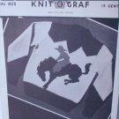 Knit O Graf 825 vintage 1949 knitting pattern boy sweater cowboy on horse sz 8 10 12