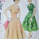 Simplicity 1091 vintage 1955 sewing pattern dress size 14 Bust 32