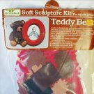 Teddy Bear soft sculpture picture frame kit no sew craft kit sealed in package