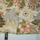 Symphony scarf 100% polyester fern and flower print 21 inch square