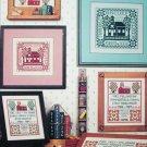 Cross stitch pattern leaflet Thanks Teacher with school house