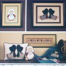 Cricket Collection Just Plain Friends cross stitch Amish designs leaflet 15