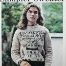 Cross stitch pattern Sampler Sweater alphabet and house design