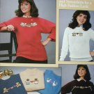 More Sweaters Sweatshirts for Cross Stitchers Leisure Arts 426 pamphlet patterns