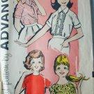 Advance 9612 vintage childs girls blouse sewing pattern size 12 1/2 B33