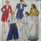 McCall 5306 sewing pattern split skirt coulotte like jacket sizes 8 10 12 UNCUT