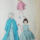 Butterick 7671 vintage 1950s sewing pattern girls dress and coat size 6 B24